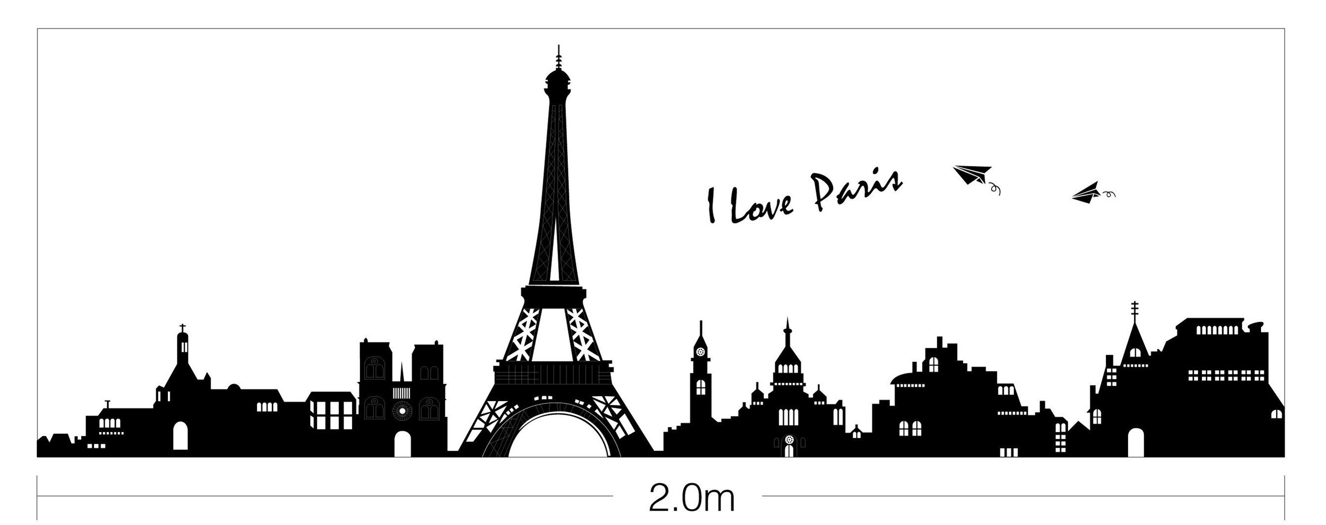 i love paris la tour eiffel wall stickers removable home decal art vinyl decor ebay. Black Bedroom Furniture Sets. Home Design Ideas