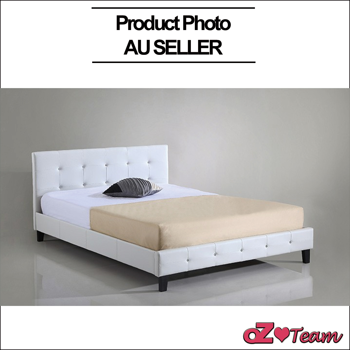 PU LEATHER BED FRAME DOUBLE QUEEN KING SIZE Bedding Mattress Option ...